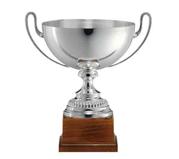 SILVER CUP FG103<br/>Silver Cup  Varnished square wooden base